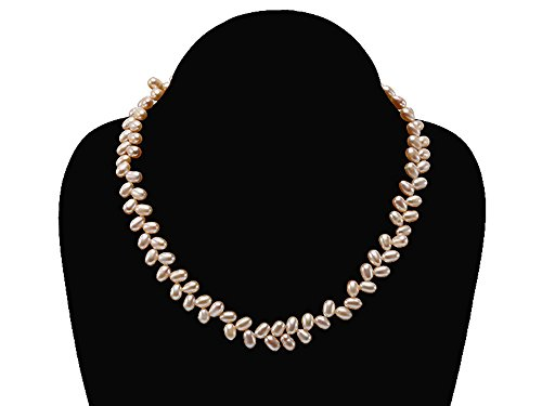 Freshwater Pearl Wheat Pearls (JYX Natural Pink Freshwater Cultured Pearl Necklace Choker 16