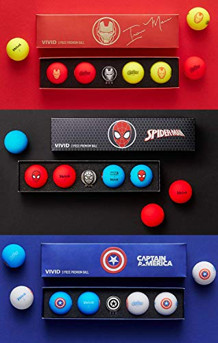 PlayBetter Volvik Vivid Marvel Gift Set Bundle | Includes 4-Packs of Spiderman, Captain America and Iron Man | Limited Edition