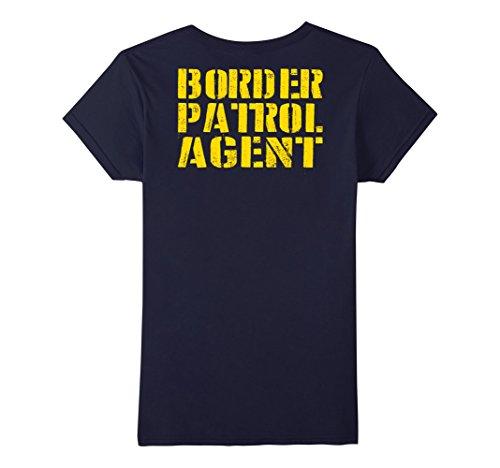 Womens Border Patrol Shirt Costume - Halloween T-Shirt Store Large Navy (Offensive Halloween Costumes College)
