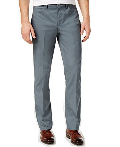 Big And Tall Formal Wear (Alfani Men's Big and Tall Cotton Stretch Pants (48W x 32L, Offshore Mist))