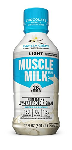 Muscle Milk Muscle Milk Light Protein Shake, Vanilla Creme, 12 - Banana Milk Light Muscle