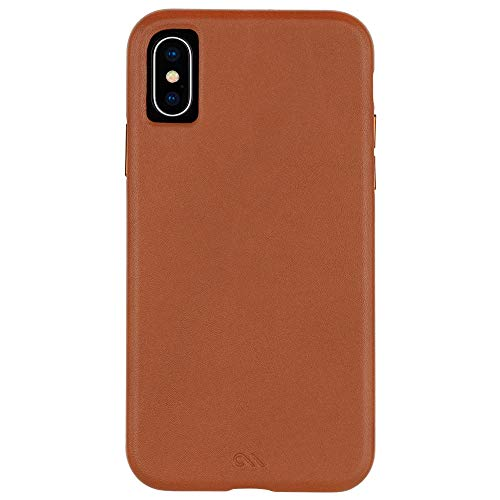 Case-Mate - iPhone XS Case - BARELY THERE LEATHER - iPhone 5.8 - Butterscotch Leather