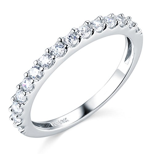 14k white gold solid wedding engagement ring and wedding