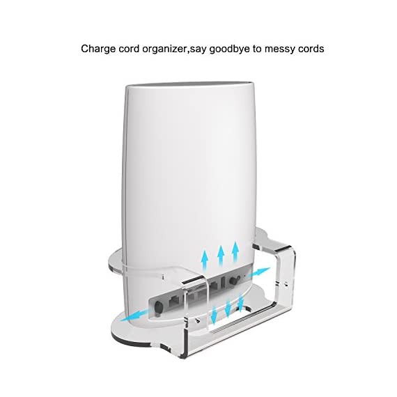 Netgear orbi wall mount, basstop sturdy clear acrylic wall mount bracket for netgear orbi ac3000/ac2200 tri band home… 6 clean look: compact and lightweight,looks clean and classic with your orbi wifi router better signal: no interference and acquire better wifi signal and when mounting up, prevent your children or pets to play with it without dropping save space: save your limited space and keep your device away from any water or others that might accidentally spill or splash