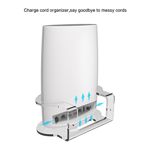 Netgear Orbi Wall Mount, BASSTOP Sturdy Clear Acrylic Wall Mount Bracket for NETGEAR ORBI AC3000/AC2200 Tri Band Home WiFi Router- (1 Pack) by BASSTOP (Image #5)'