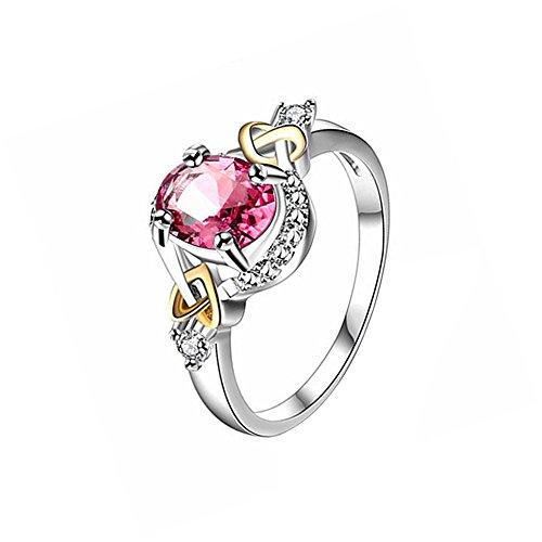 9eb04b7e21d5 Hosaire Anillo de Plata de Anillo Grande de Diamantes Con estilo y ...