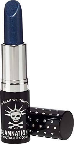 Halloween Lipstick - Manic Panic After Midnight Blue Lethal Lipstick - Deep, Metallic, Midnight Blue Lipstick - Ice Metals Lipsticks Have A Frosty, Metallic Finish - Long Lasting Moisturizing Metallic Blue Lip Stick