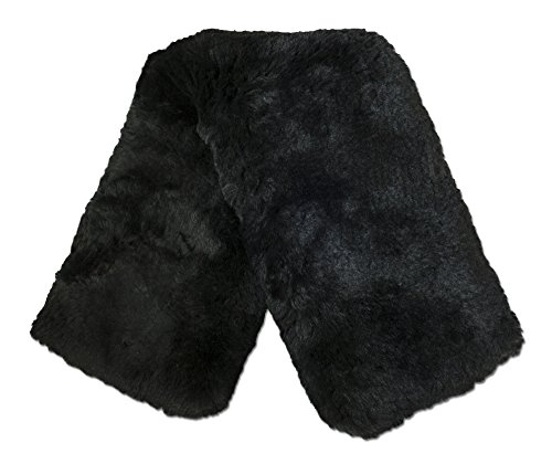 (ECP Real Genuine Sheepskin Girth Protection Cover | Helps Prevent Gall Sores Chafes | 22 Inches Black)
