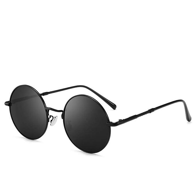 84c37c0dee XUNYIHE Gafas De Sol Retro Polarizadas - Espejo De Conducción Redondo, Para  Hombres Y Mujeres, Conducción Con Protección UV400 Con Marco De Metal ...