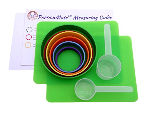 PortionMate Bariatric Surgery Care Eating Guide and Food Rings