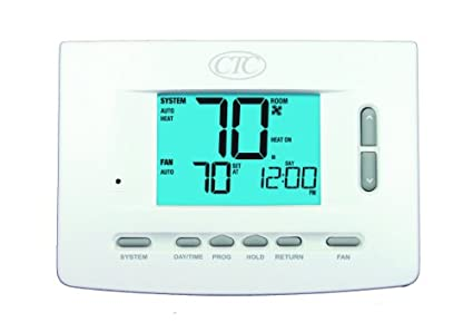 CTC 73257P Wall Thermostat, 5/2 and 7 Day or Non Programmable, Up