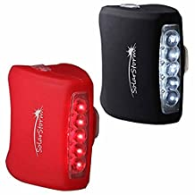 Dimples Excel Bike Light Set 7 LED Silicone, White Headlight and Red Taillight