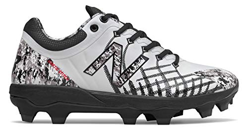New Balance Men's 4040v5 Molded Baseball Shoe, Pedroia CAMO White/, 5.5 2E US