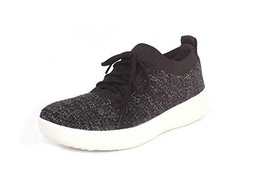 Womens Fitflop F-sportiva Uberknit Sneaker Nera 1