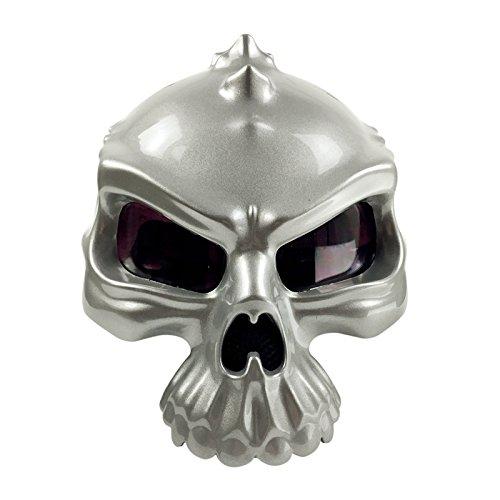 Motorcycle Helmet Street Bike Scooter Open Face Helmet 3D Skull Half Helmet [Matte Black Shiny Black Silver Gold White] (Medium Large X-Large)