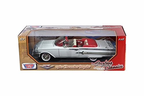 - 1960 Chevy Impala Convertible, White - Motor Max 73110TC/W - 1/18 Scale Diecast Model Toy Car