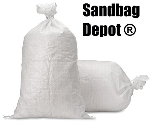 Sand Bags - Empty White Woven Polypropylene Sandbags w/ Ties, w/ UV Protection; size: 14 x 26 , Qty of 100 by Sandbag Depot ?