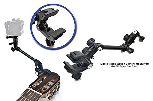 SublimeWare - Music Mount Gopro Guitar headstock Mic Boom stand Drum Violin Clamp gopro guitar mount gopro music mount gopro mic stand mount for Gopro Hero Series SJCam Xiaomi