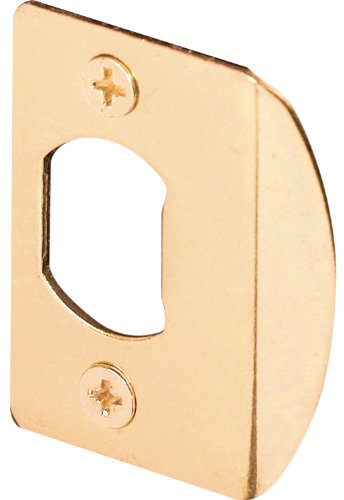 Adjustable Brass Locks (Prime-Line Products E 2232 Standard Latch Strike, 1-5/8 in., Steel, Brass Plated Finish (Pack of 2))