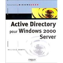 ACTIVE DIRECTORY POUR WINDOWS 2000 SERVER