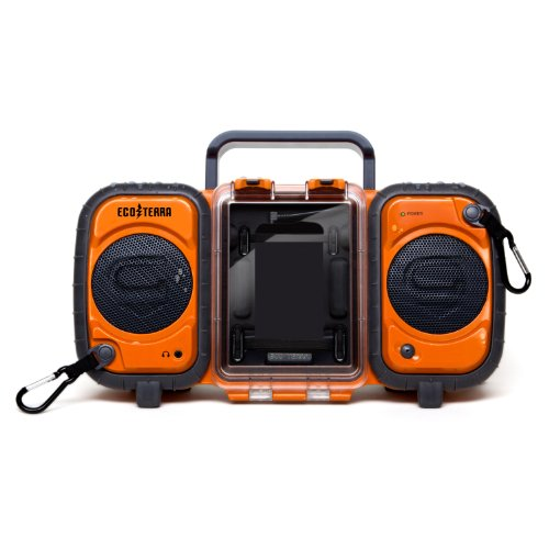 ECOXGEAR Rugged and Waterproof Stereo Boombox GDI-AQ2SI60
