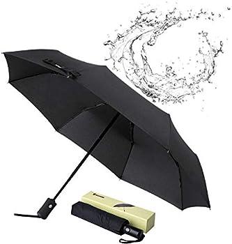 Glamore Compact Travel Windproof Folding Umbrella