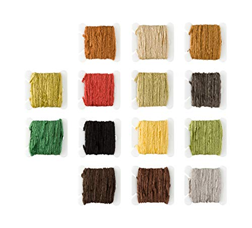 Fly Tying Chenille Earth Tones - Fine Flat Rayon Chenille for thinner Bodies!