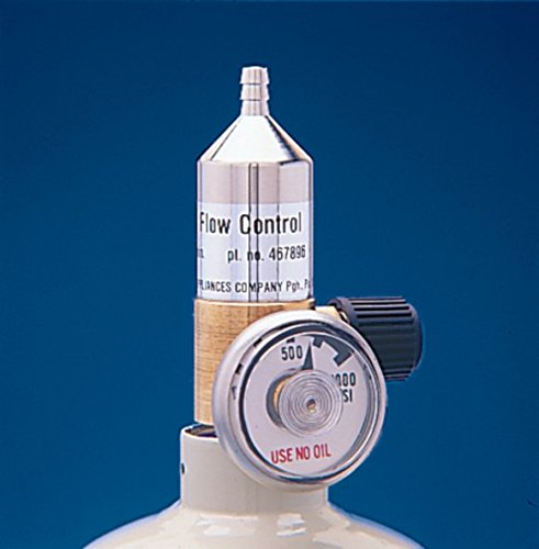 """MSA (Mine Safety Appliances) 467895 .25 LPM Model RP Fixed Flow Regulator For RP Style Calibration Gas Cylinders, English, 8.437 fl. oz., Plastic, 4.5"""" x 9"""" x 6.5"""""""