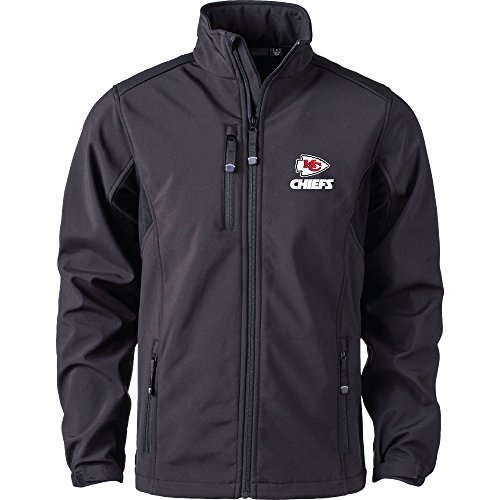 (Dunbrooke Apparel NFL Kansas City Chiefs Men's Softshell Jacket, 2X, Black)
