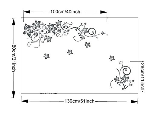 Erovy - New and Hot DIY Wall Art Decal Decoration Fashion Romantic Flower Wall Sticker/Wall Stickers Home Decor 3D -