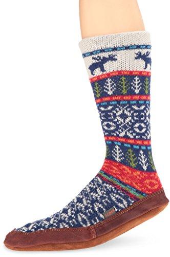 Acorn Unisex Slipper Sock, Maine Woods Jacquard, XXX-Large(13.5-14.5 Men's) B US