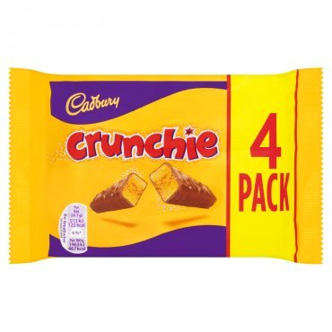 Cadbury Crunchie Milk Chocolate With Honeycomb Center 4 Pack ()