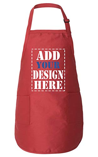 Personalized Aprons for Women & Men - ADD Your Logo Design Photo Text - Custom Apron with Pockets