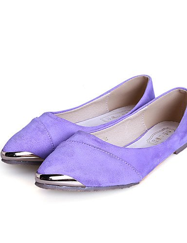 señaló mujer fuchsia us7 5 cerrado cn38 zapatos PDX rojo plano Casual talón Toe uk5 Flats púrpura de negro comodidad 5 Toe de eu38 a0wx4Tqt