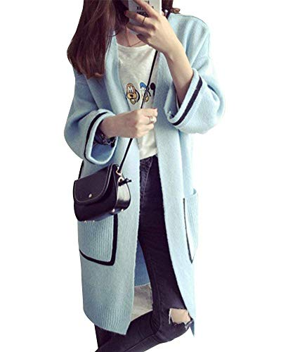 Veste en Tricot Femme Printemps Automne Longues Cardigan Casual Confortable Branch