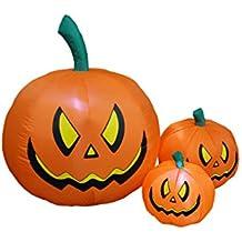 4 Foot Tall Halloween Inflatable Three Pumpkins Decoration