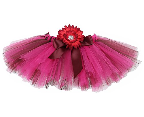 Tutu Dreams Hot Pink Fluffy Tulle Tutus for Girls Monster High Costume Kids (Large, -