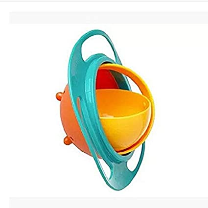 Rotation /à 360 degr/és Bol gyroscopique pour b/éb/é et enfant Bol gyroscope universel anti-d/éversement rose