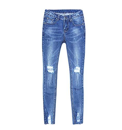 Ropa Aire Glúteos Libre Desgarrados Adelgazar Para Blau1 Encantador Mujer Pantalones Levantamiento Verano Y Vaqueros Ajustados Elegante Al De vUaqYwq