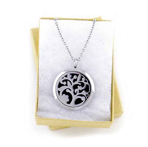 Essential Oil Diffuser Necklace {Silver Tree}