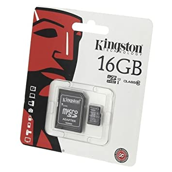 Acce2S - Kingston 16 GB Memory Card for Samsung Galaxy J5 2016 - Micro SDHC  Class 10 Kingston