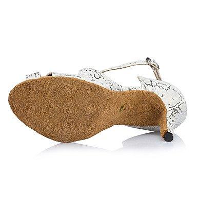 de Negro Zapatos Personalizado Tacón Personalizables Salsa Latino baile Blanco white Moderno 1qCfZxdw