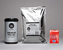 Premium American Pale Ale No Boil Complete Beer Kit, Makes 5-6 gallons