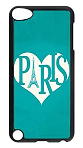 iPod 5 Cases, Hot Sale Personalized I Love Paris Protective Hard PC Plastic Black Edge Case Cover for Apple iPod Touch 5 5th Generation