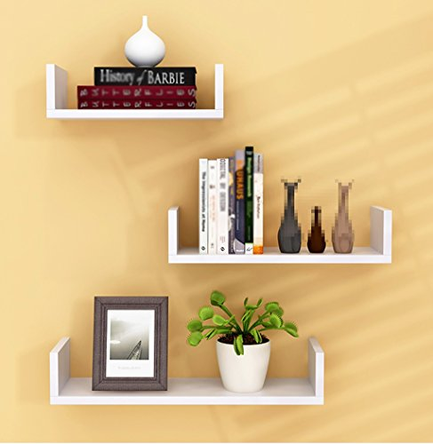 CSQ Indoor Wall Hangings, Pallet Shelf Bedroom Living Room Restaurant Kitchen Decoration Chlorophytum Potted Plants 3 Pieces Flower Shelf by Flowers and friends (Image #2)