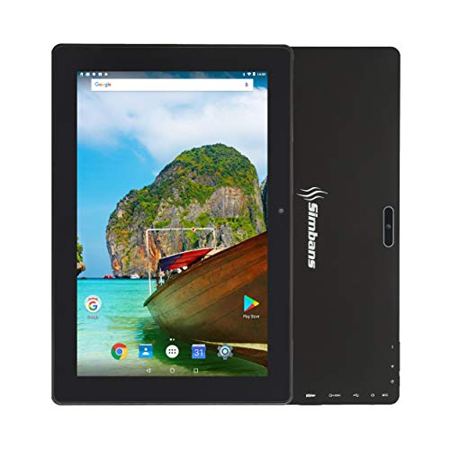 [3 Bonus Item] Simbans TangoTab 10 Inch Tablet | 2GB RAM, 32GB Disk, Android 9 Pie | GPS, WiFi, USB, HDMI, Bluetooth | IPS Screen, Quad Core CPU, 2+5 MP Camera Computer PC