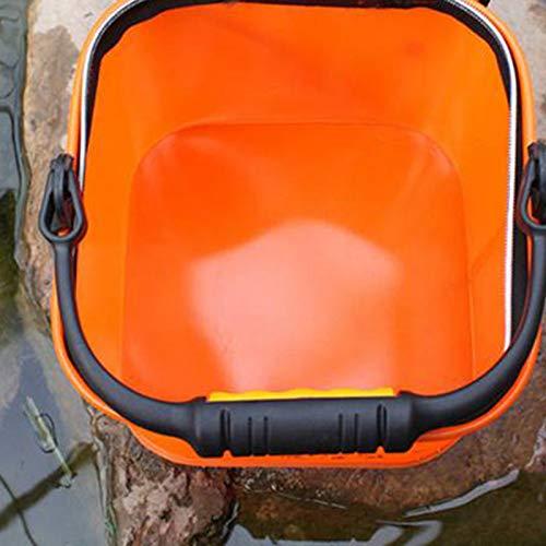 SODIAL 24 Cm Eva Cubo De Agua con Cuerda Cubeta Plegable para Camping//Pesca Cubo Accesorios De Aparejos De Pesca Plegable Pesca Cubo