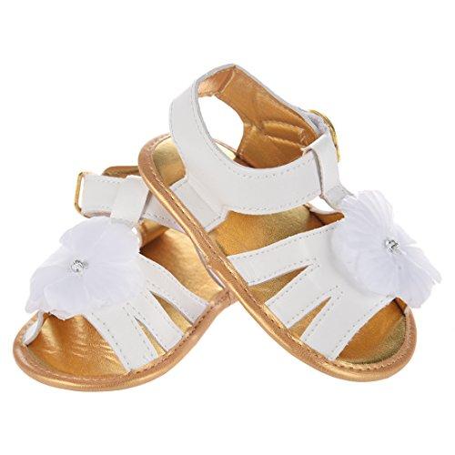 Maedchen Prinzessin Schuhe - SODIAL(R) Neue Baby Blumen Sommer Sandelholz Krippe weiche alleinige rutschfeste Prinzessin Schuhe 12cm---6-9 Monate Baby