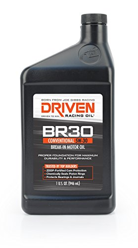 Joe Gibbs Driven Racing Oil 01807 BR-30 5W-30 Break-In Motor Oil - 1 Quart Bottle, Case of 12