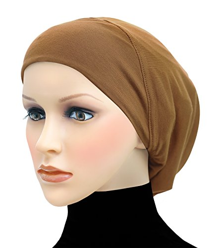 Middle Eastern Mall Cotton Beanie Snood Large Hijab Chemo Cap (Golden - Mall Golden